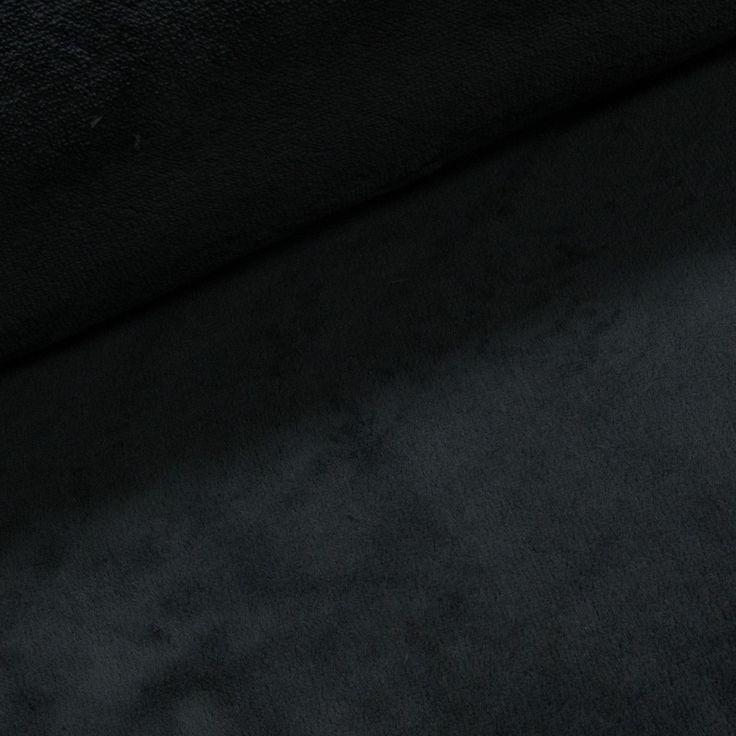 Mikroplyš / coral fleece 072 jednobarevná tmavě šedá, š.175cm (látka v metráži) | Internetový obchod Chci Látky.cz