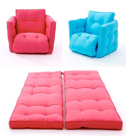 Cama extra tipo futón para acomodar a tus invitados en casa, blanco o colores
