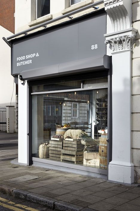 Quality Chop Shop butcher by Fraher Architects references food crates