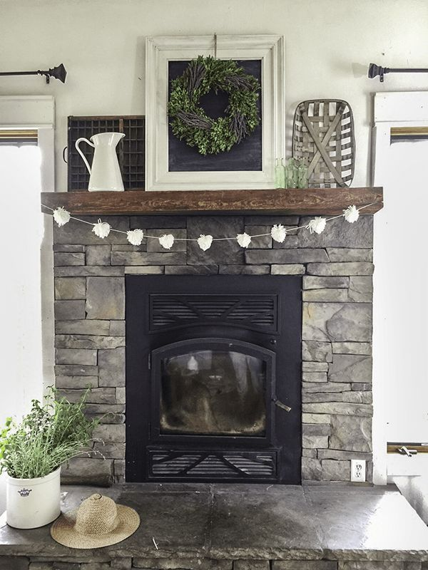 Best 25 grey stone fireplace ideas on pinterest for Farmhouse fireplace decor