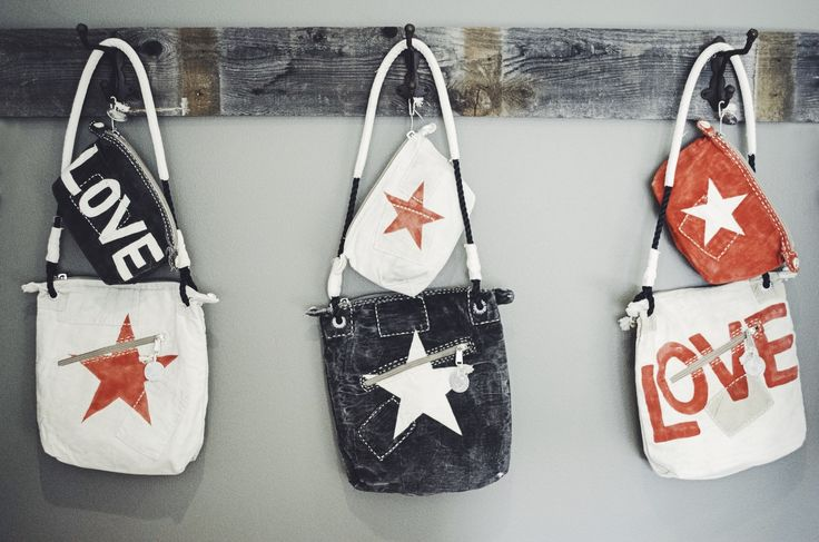 NEW ONLINE…#alilamu bags are here!!  LOVE and STARS on sails from Kenya. xx