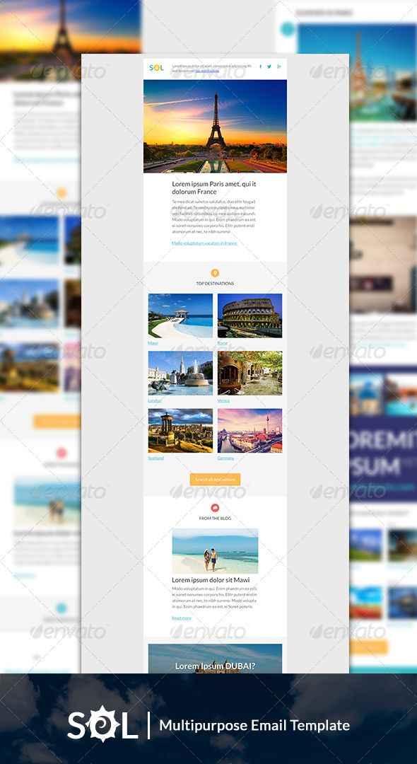 Sol - Holiday Promotion Email Template