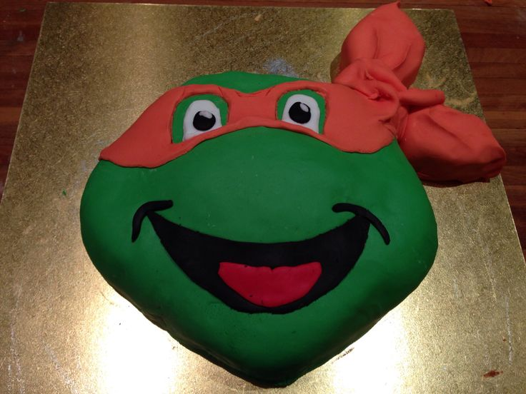 Sheps TMNT cake for his 4th birthday