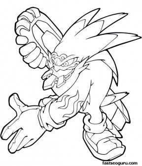 Printable Sonic The Hedgehog Storm Coloring Pages