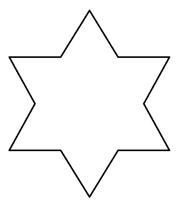 how to draw a six point star