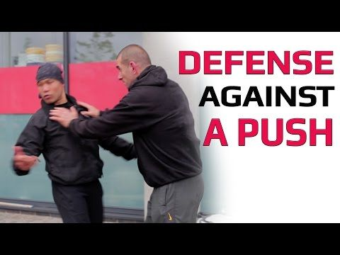 how to defend someone pushing - YouTube