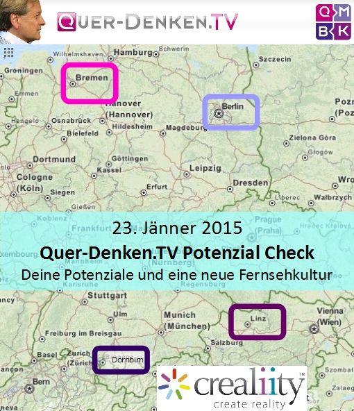 in diesen 4 Städten sind wir am 23. Jänner 2015 https://crealiity.com/querdenken.tv.php