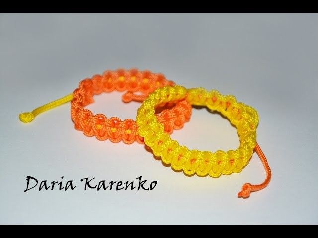 DIY Яркие летние браслеты из шнура. Мастер класс \ Bright summer bracelets cord