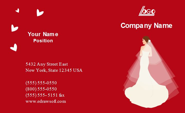 The 11 best business card images on pinterest business card design this typical wedding company business card template is suitable for wedding company wedding planner wedding agency and any other business related to colourmoves
