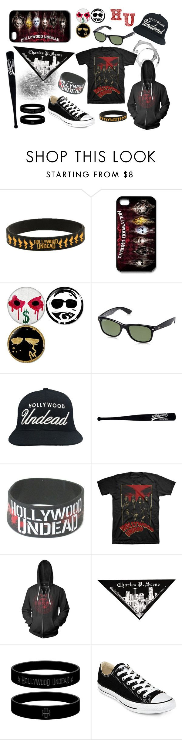 """Hollywood Undead"" by starlingwriter ❤ liked on Polyvore featuring Converse"