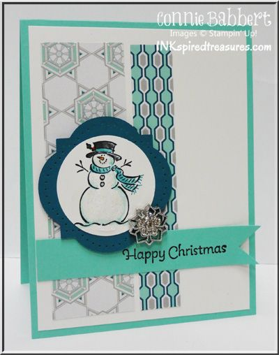 Connie Babbert Christmas Card! with the ccmc challenge, Best of Snow, 25 year of Stampin Up