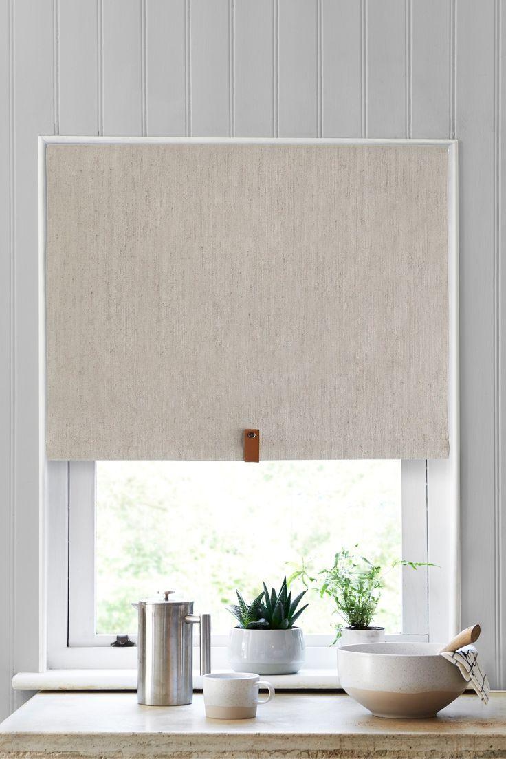 Next Linen Look Verdunkelungsrollo Natur Blackout Roller Blinds Curtains With Blinds Roller Blinds Bedroom
