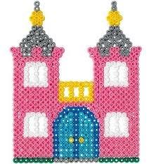 Kasteel van strijkkralen voor kleuters / Schloss / Hama Perlen - perler beads - Bügelperlen