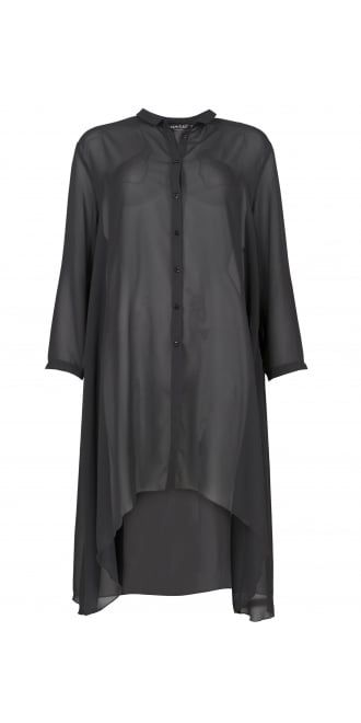 Kamuflage Anthracite Chiffon Long Shirt