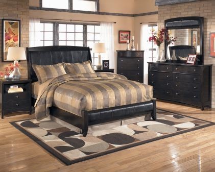Ash B208 Qubd Ashley Harmony Queen Platform Style Bed Mathis Brothers Furniture Bedroom
