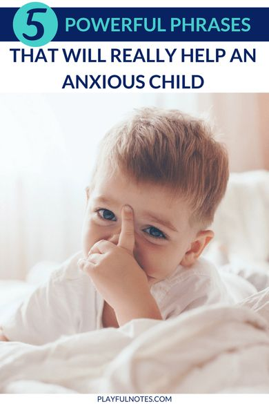 Helping children with anxiety is not easy. But there are some phrases that can really ease their intense feelings and make them feel better. And they can truly make a difference! | How to help an anxious child | Anxiety relief for kids | Tips for dealing with anxiety in kids #AnxietyInKids