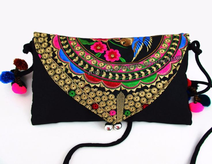 Find More Shoulder Bags Information about Vintage Hmong Tribal Ethnic Thai Indian Boho shoulder bag messenger embroidery, pom pom trim SYS 232,High Quality pom pom gift bows,China pom blue Suppliers, Cheap pom poms for sale from STS Sure Top Shining on Aliexpress.com#bohemian hmong bag#embroidery ringing bell bag