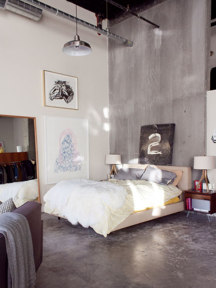 dream home   bedroom   An Eclectic Apartment in Seattle  Fit For a Quirky  Illustrator. Best 25  Concrete bedroom floor ideas on Pinterest   DIY interior