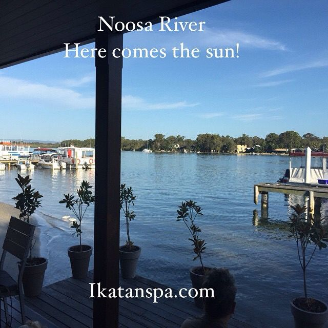 Good morning coffee on Noosa river