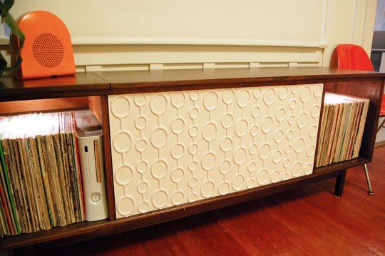 Converted stereo cabinet via apartment therapy