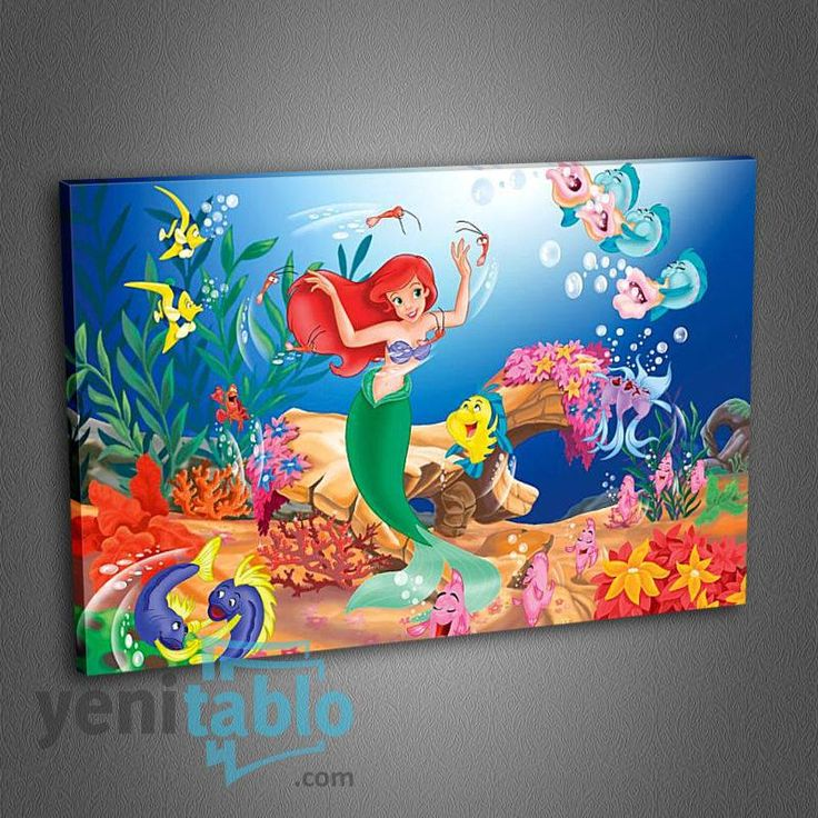 Çocuk Odası Kanvas Tablo http://www.yenitablo.com/kanvas-tablo-galerisi/cocuk-odasi-kanvas-tablolari/co4-baliklar-ve-denizkizi-tablo