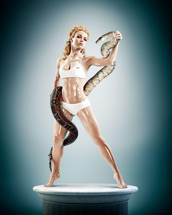 Sculpture Athletes by Tim Tadder, via Behance