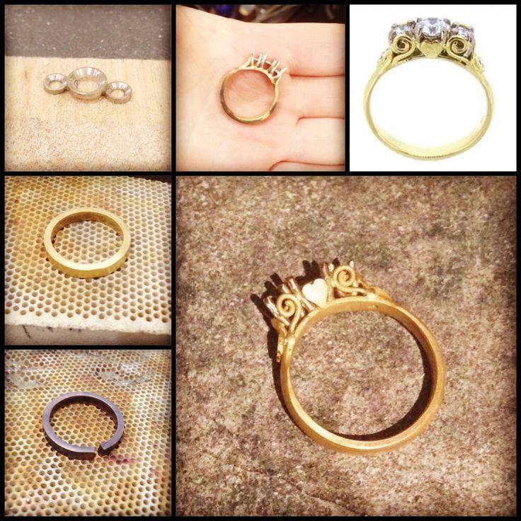 Jessica Helen: The Handmade Process, Mel's Engagement Ring #australiangoldsmith #engagementring #bespokejewellery #gold #diamonds