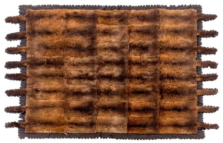 A large possum skin rug, late 19th/early 20th century