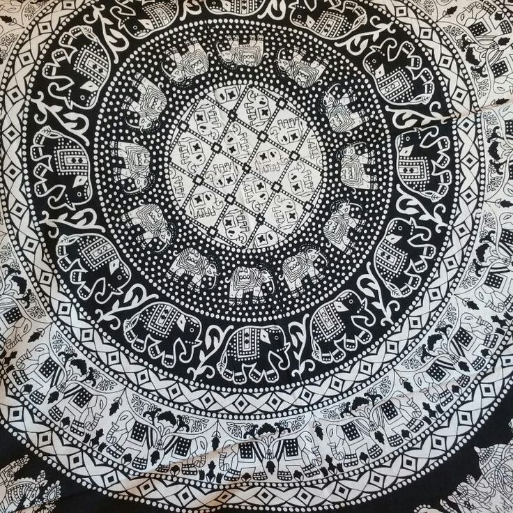 Traditional Black & White Tapestries