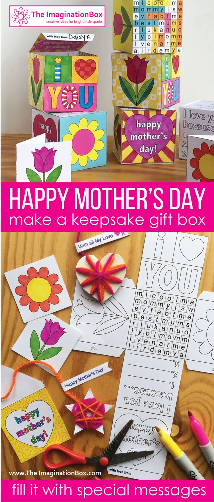 Are you looking for a creative, fun Mother's Day art and craft activity for kids to make and take home for mum to treasure? This imaginative 'keepsake box' can be personalised by each student on the outside and filled with special surprises inside.