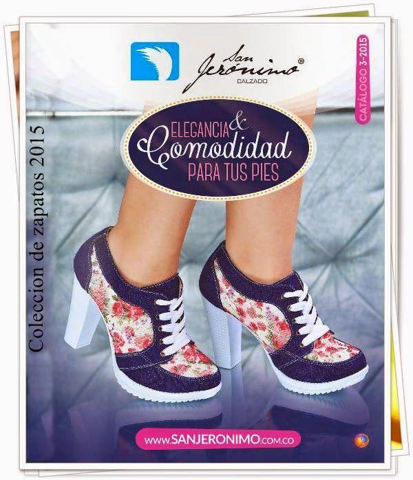 Nuevo Catalogo de Calzado San Jeronimo C-3 2015. La coleccion trae nuevos modelos de zapatos con colores de tendencia.