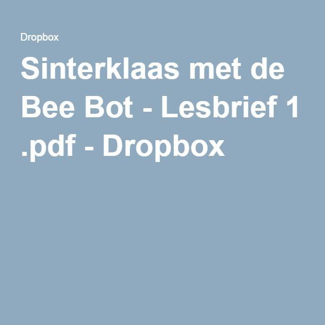 Sinterklaas met de Bee Bot - Lesbrief 1 .pdf - Dropbox