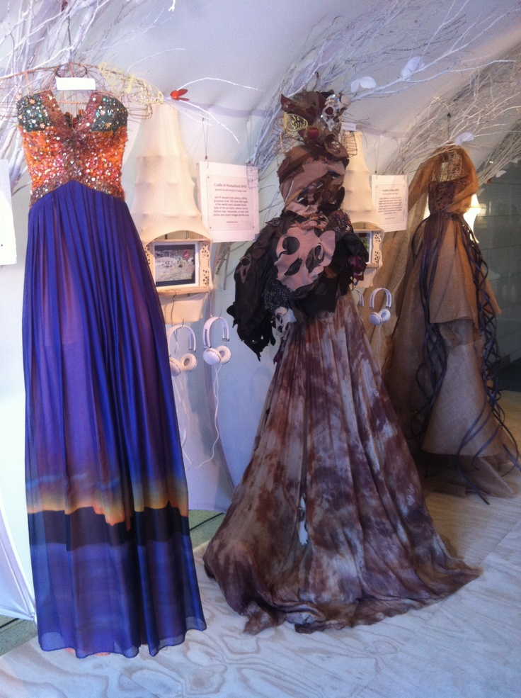 Dresses at the Pavilion designed by South African designers represent the 8 World Heritage Sites.