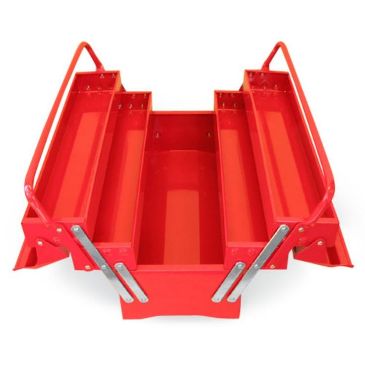Excel 5 Compartment Cantilever Tool Box - TB122B-RED