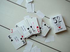 DailyChicin mielestä ystävänpäivä on joka päivä ja ystäviä sekä rakkaita voi muistaa, niin usein kuin haluaa. Yleensä paras lahjaon itse tehty. Se voi olla pelkkä kortti, se voi olla villasukat tai se voi olla itse tehtyä kosmetiikkaa.Ystäviltä on mukava aina välillä kuulla, mitä he oikein ajattelevat meistä. Tämä DIY-ohje on korttipelien pelaajille mieluinen lahja, sillä…