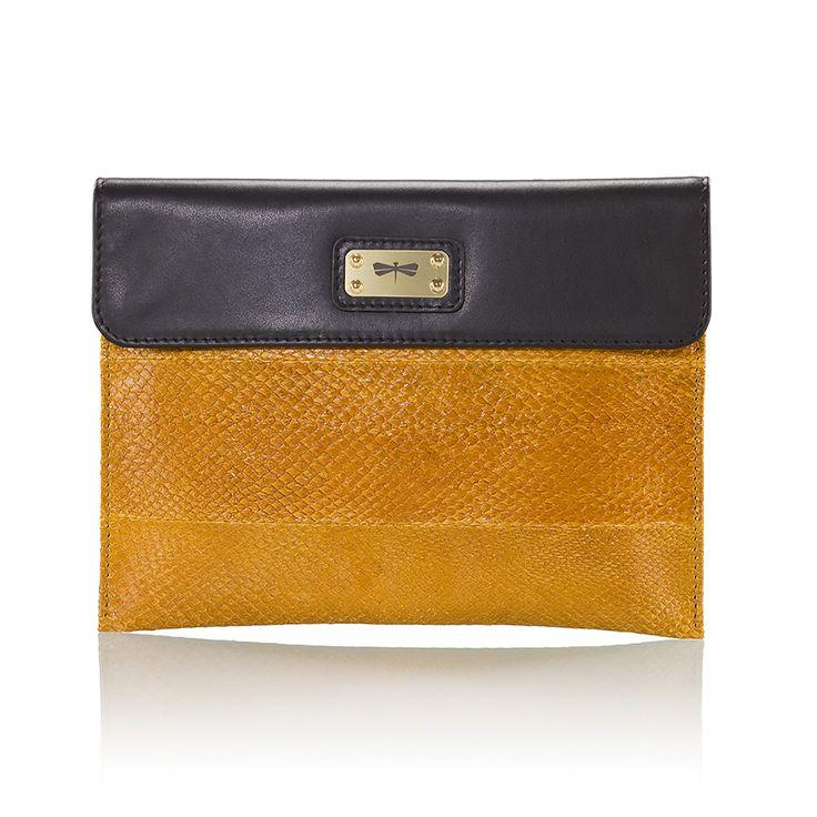 Leather Statement Clutch - exotic-23 by VIDA VIDA QfY7Z95at