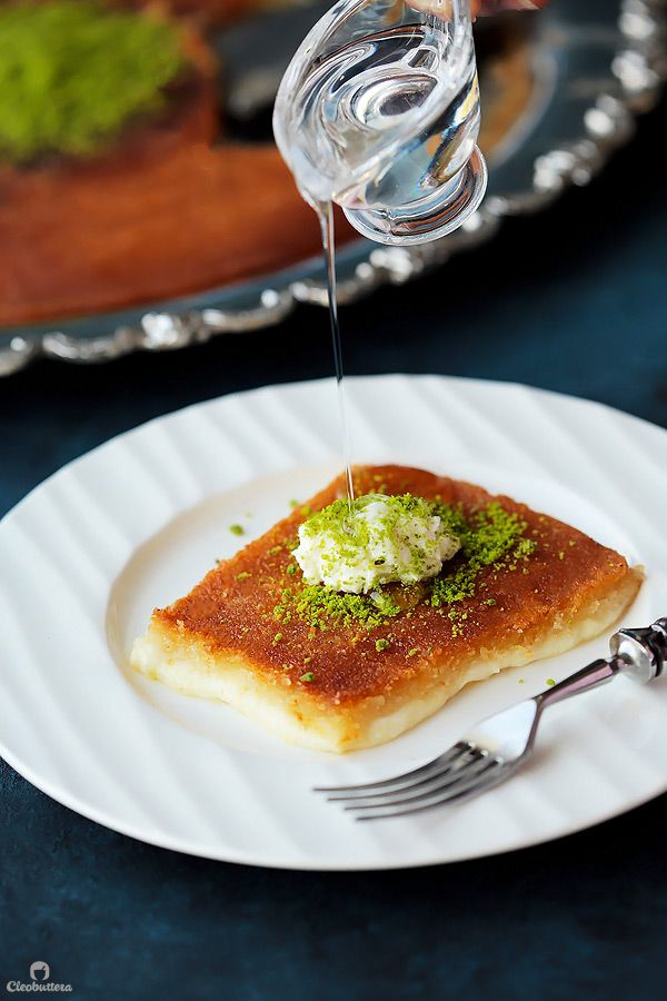 Knafeh Na Ameh Recipe Food Middle Eastern Desserts