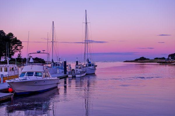 Wynyard Wharf at Sunset. Photo by Carol Haberle, article for think-tasmania.com
