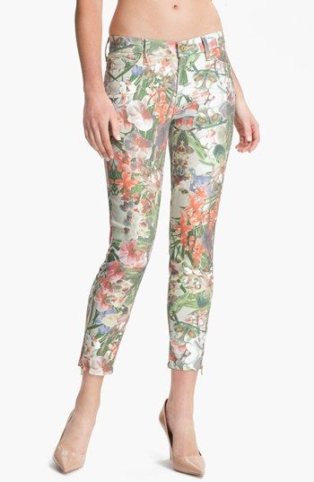 7 For All MankindThe Skinny Crop Jeans (Ecru Tropical Print) My Top 5 Printed Jeans For The Weekend http://toyastales.blogspot.com/2013/04/my-top-5-printed-jeans-for-weekend.html
