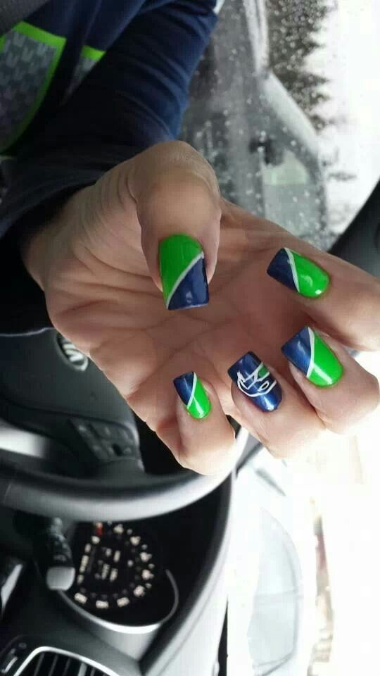 Seahawks nails! Need to know where these were done!!!  PLEASE!!!