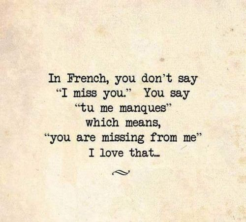 you are missing from me ..