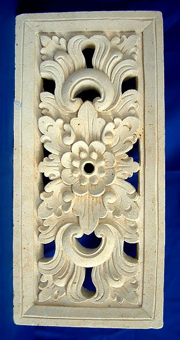 Carved limestone wall plaque balinese inspo pinterest