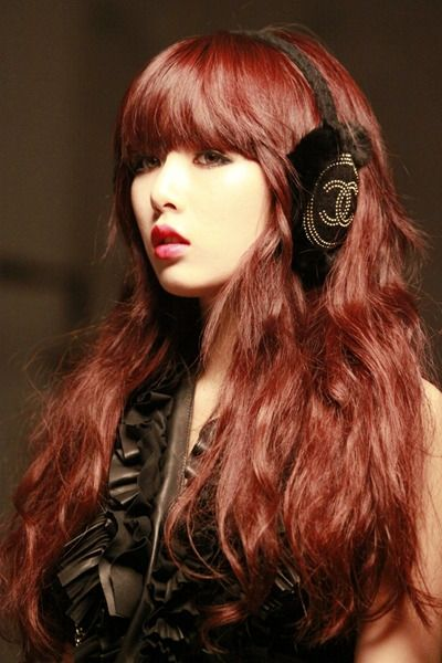 Kim Hyuna Chanel earmuffs Come visit kpopcity.net for the largest discount fashion store in the world!!
