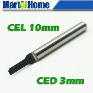 10 шт. / lot CNC параллельный карбид печатная плата фреза биты резка инструмент CEL 10 мм кни 3 мм # SM488 @ CF