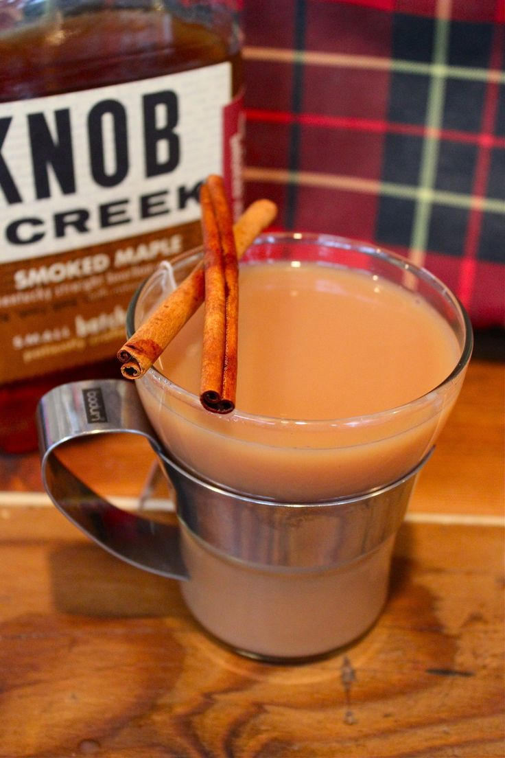 Fall Camping Cocktail Recipe: Smoked Maple Bourbon Chai Tea Toddy