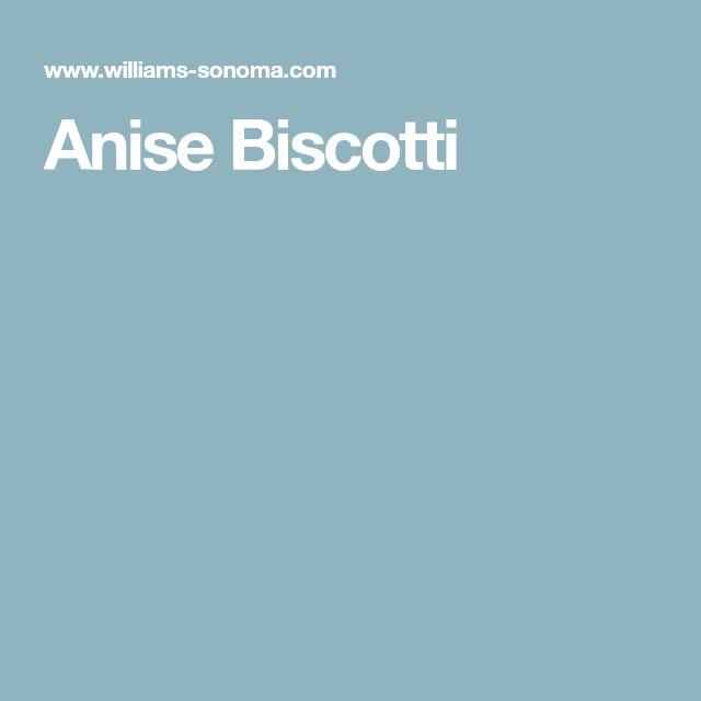 Anise Biscotti