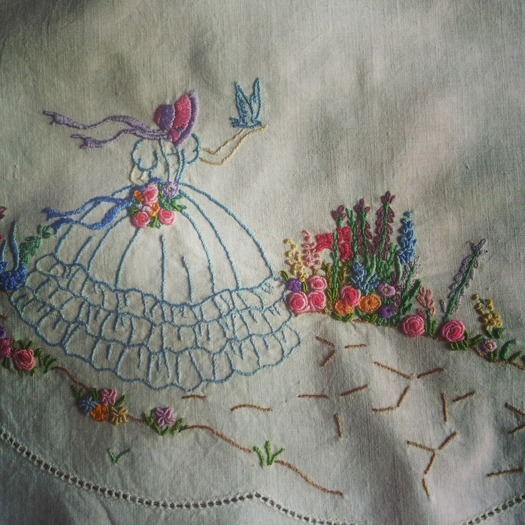 crinoline lady, embroidery, handmade, http://moniquesmess.blogspot.com.au/