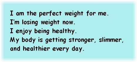 Positive Affirmations for Weight Loss…