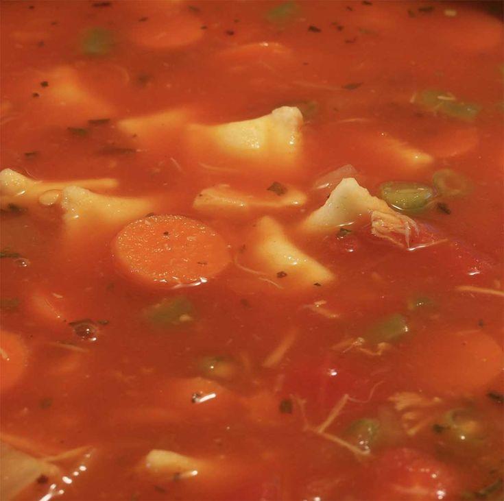 Recette: soupe repas de maman.