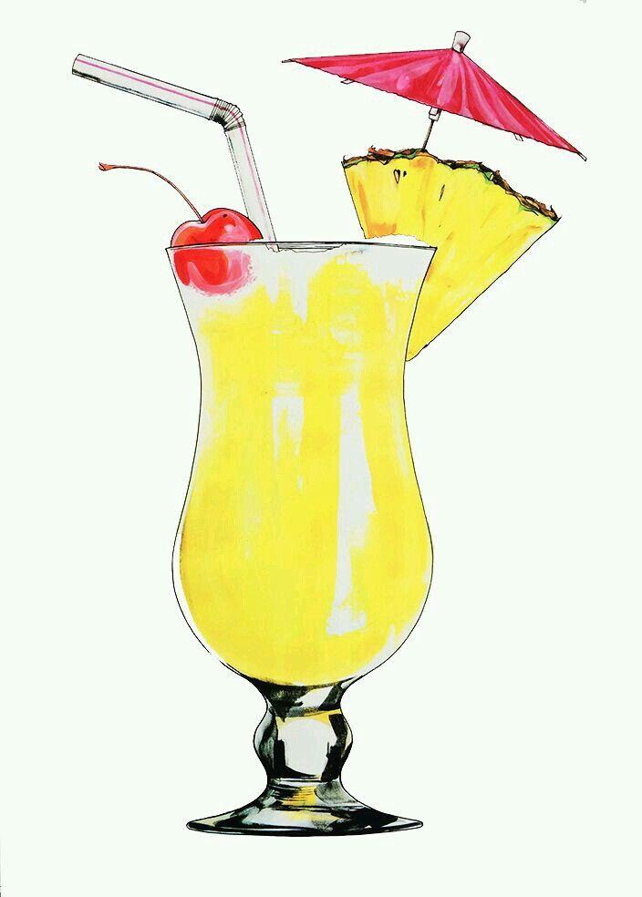 337 best clip art drinks ice cream images on pinterest - Dessin cocktail ...